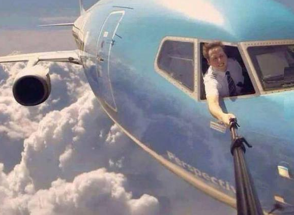 could this pilot selfie be real