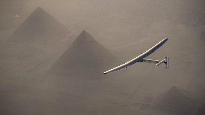 Solar Impulse: Zero fuel plane lands in Cairo