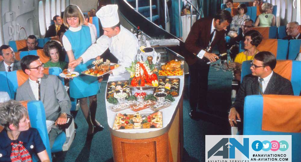 A mouthwatering look at what inflight meals used to be like