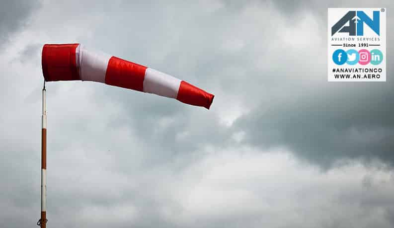 What Dose the White and Orange Strips on Windsocks Mean ?