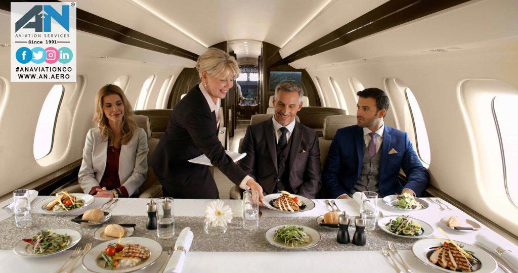 EXTRAVAGANT SERVICES PROVIDED TO PRIVATE JET CUSTOMERS such as Catering Service