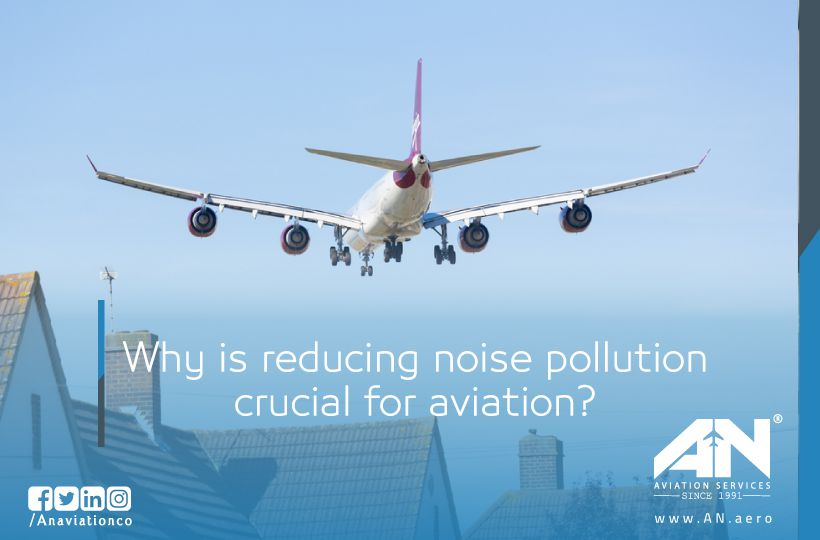 Why is reducing noise pollution crucial for aviation