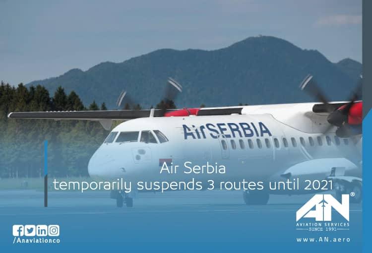 Air Serbia temporarily suspends 3 routes until 2021